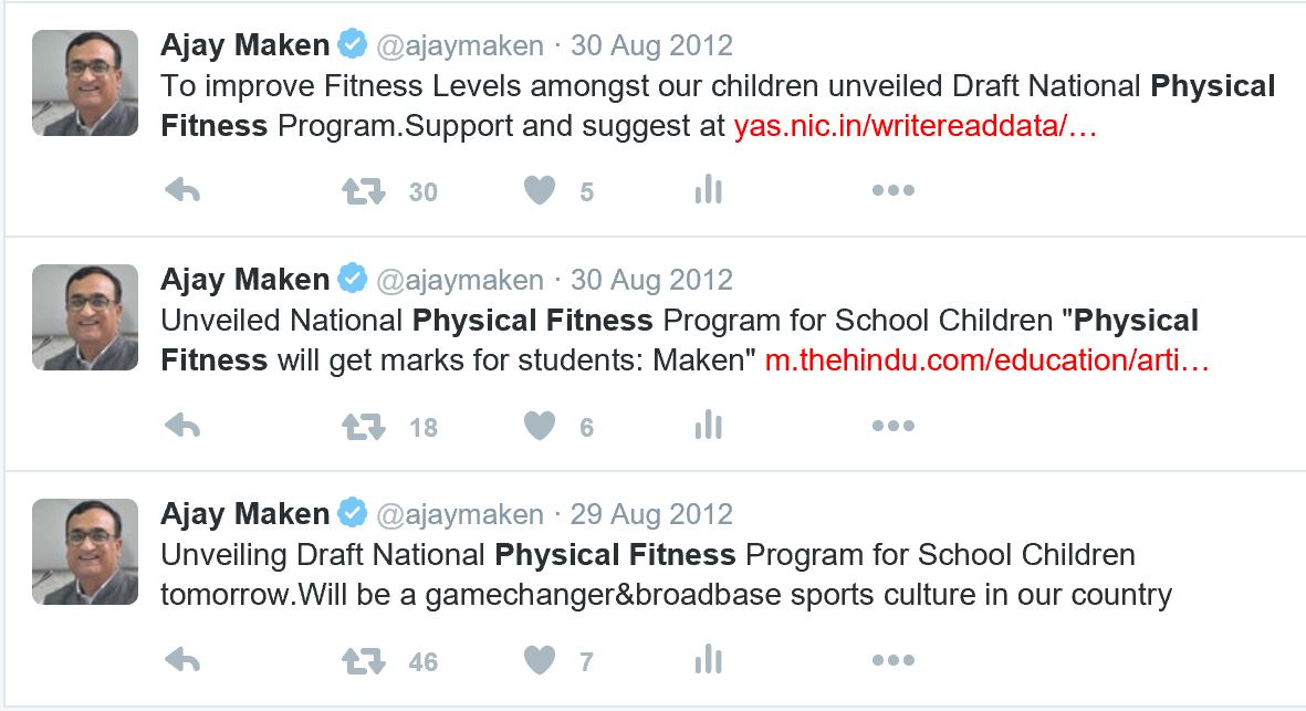 300812 Tweets on Draft Physical Fitness Programme.JPG